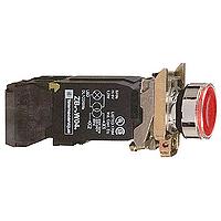 Пусков светещ бутон (1 N/O + 1 N/C) с нажежена жичка, без маркировка, червен