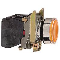Пусков светещ бутон (1 N/O + 1 N/C) предпазен LED, без маркировка, Orange