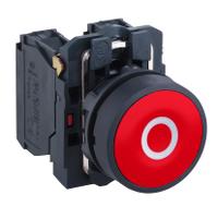 """Пусков бутон (1 N/C) бяло """"O"""", червен"""