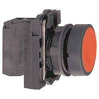 Пусков бутон (1 N/O + 1N/C) без маркировка, червен