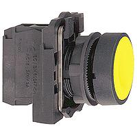 Пусков бутон (1 N/O + 1N/C) без маркировка, жълт
