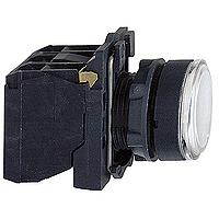 Пусков светещ бутон (1 N/O +1  N/C) вградена LED 230-240 V AC/DC, бял