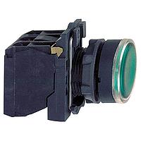 Пусков светещ бутон (1 N/O +1  N/C) вградена LED 230-240 V AC/DC, зелен