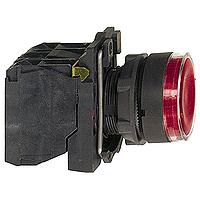 Пусков светещ бутон (1 N/O +1  N/C) вградена LED 24 V AC/DC, червен