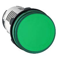 Сигнална лампа с вграден LED 230 V AC, зелен
