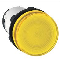 Сигнална лампа със захранване на крушка BA 9s през резистор 230 V AC, жълт