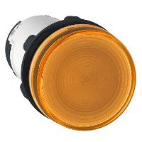 Сигнална лампа със захранване на крушка BA 9s през резистор 230 V AC, оранжев