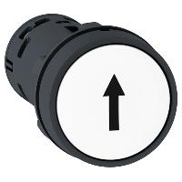 """Пусков бутон (1 N/O) бял, черен """"↑"""""""