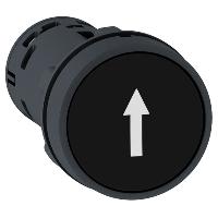 """Пусков бутон (1 N/O) черен, бяла стрелка нагоре """"↑"""""""