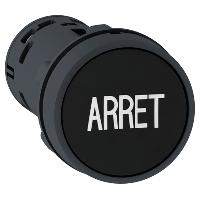 """Пусков бутон (1 N/O + 1 N/C) черен, бял надпис """"ARRET"""""""
