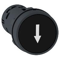 """Пусков бутон (1 N/O + 1 N/C) черен, бяла стрелка надолу """"↓"""""""