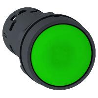 Пусков бутон (1 N/O) зелен, без маркировка