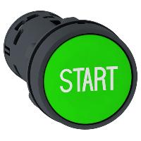 """Пусков бутон (1 N/O) зелен, бял надпис """"START"""""""