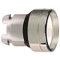 Бял бутон с вградена глава с вързвръщаема пружина, без маркировка