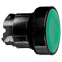 Зелен бутон наравно с повърхността с вързвръщаема пружина, без маркировка