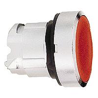 Червен бутон наравно с повърхността с вързвръщаема пружина, без маркировка