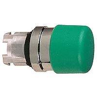 """Зелен бутон тип """"гъба""""с възвръщаема пружина, без маркировка"""
