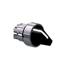 Черна стандартна дръжка, възвръщаема пружина от дясно на ляво, 2 позиции 90°