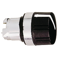 Черна метална назъбена глава, възвръщаема пружина от дясно до центъра, 3 позиции +/- 45°