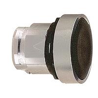 Черен бутон наравно с повърхността, натискане и освобождавне чрез натискане, без маркировка