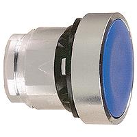 Син бутон наравно с повърхността, натискане и освобождавне чрез натискане, без маркировка