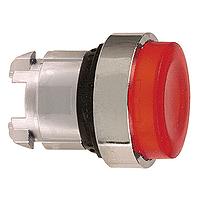 Червена глава за изпъкнал бутон, натискане и освобождавне чрез натискане, вграден LED