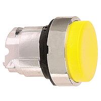 Жълта глава за изпъкнал бутон, натискане и освобождавне чрез натискане, без маркировка