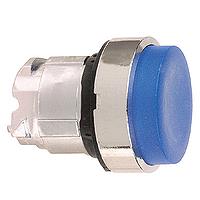 Синя глава за изпъкнал бутон, натискане и освобождавне чрез натискане, без маркировка