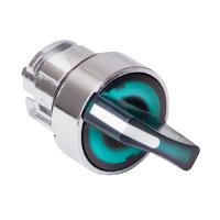 Зелен светещ ключ с 2 позиции 90°