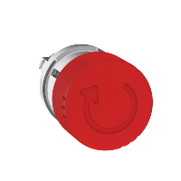 Червен авариен стоп бутон 30 Ø, превключване чрез завъртане
