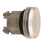 Бяла контролна лампа с обикновени обективи, с възможност за вмъкване на надпис, вграден LED