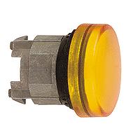 Жълта контролна лампа с обикновени обективи, вграден LED