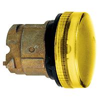 Жълта контролна лампа с оребрени обективи, вграден LED