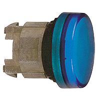 Синя контролна лампа с обикновени обективи