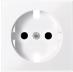 Капак за контактен излаз Шуко, Активно бяло