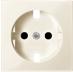 Капак за контактен излаз Шуко, Бяло