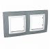 Двойна рамка Unica Basic, Техническо сиво/Бял
